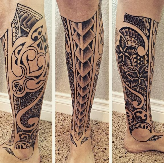 New Polynesian Ethnic Tattoo 2016 At Leg Tattoos  #Polynesian #Ethnic #Tattoo…                                                                                                                                                                                 More