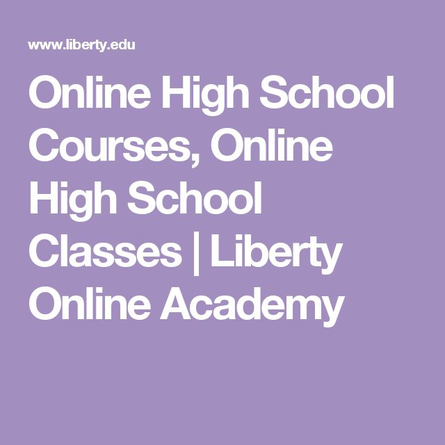 Online High School Courses, Online High School Classes | Liberty Online Academy