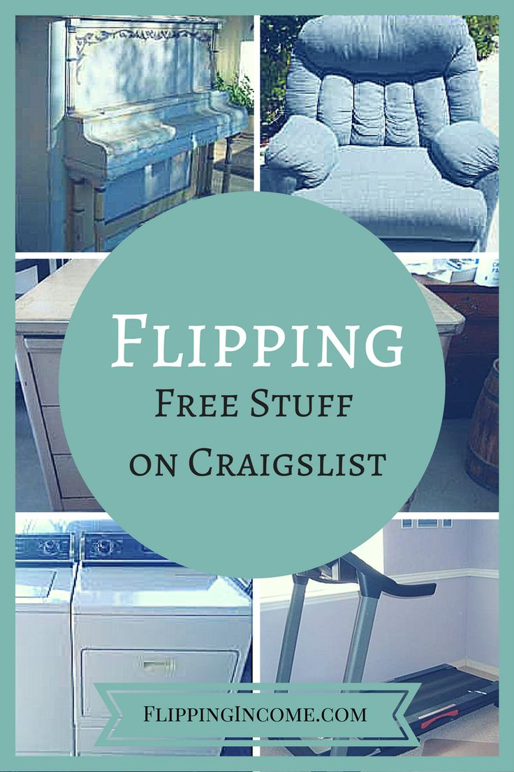 "Many of you probably have used Craigslist before to buy and sell locally but did you ever stop and check out the ""free stuff"" section?  It's incredible some of the things people are willing to give away simply due to lack of time or manpower.  Let's take a look at how you can make a lot of money by flipping free stuff on Craigslist."
