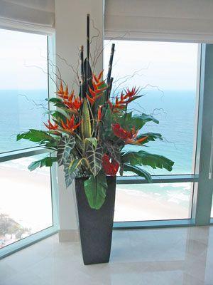 Large Artificial Floral Arrangements Tropical Flowers Pinterest