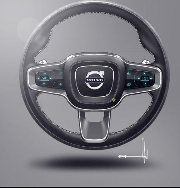 volvo concept coupe interior steering wheel design sketch conceptcar design sketch. Black Bedroom Furniture Sets. Home Design Ideas