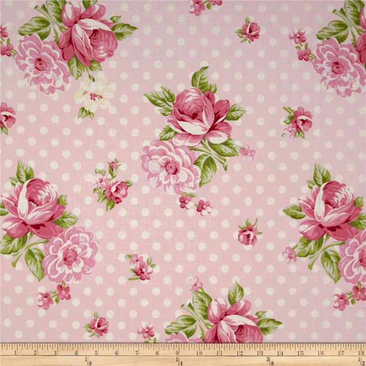 Designed by Tanya Whelan for Free Spirit, this cotton print fabric is perfect for quilting, apparel and home decor accents. Colors include shades of pink, ivory and light green.