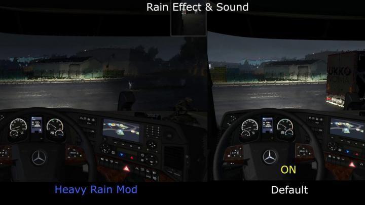 ETS2 - Heavy Rain V1 (1 34 x) Download   ETS2 Mods   Rain