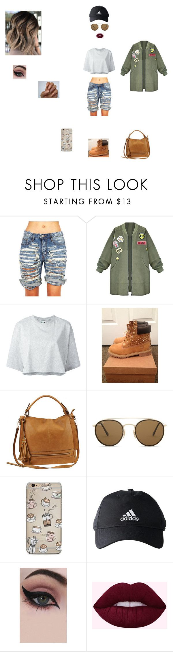 """crazy girl"" by babykookie971 on Polyvore featuring Puma, Timberland, Urban Expressions, Ray-Ban, adidas et Concrete Minerals"