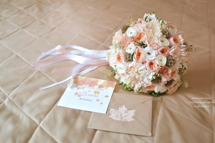 Букет невесты с гвоздиками и пионовидными розами. Флорист Пашкова Ольга #букет #невесты #свадебный #гвоздики