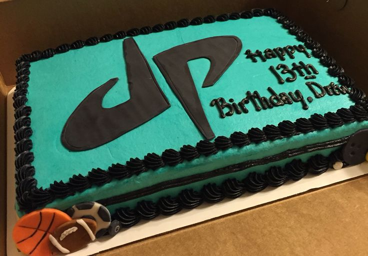 Dude perfect themed cake #decoratedsheetcakes #dudeperfect #cakedecorating…
