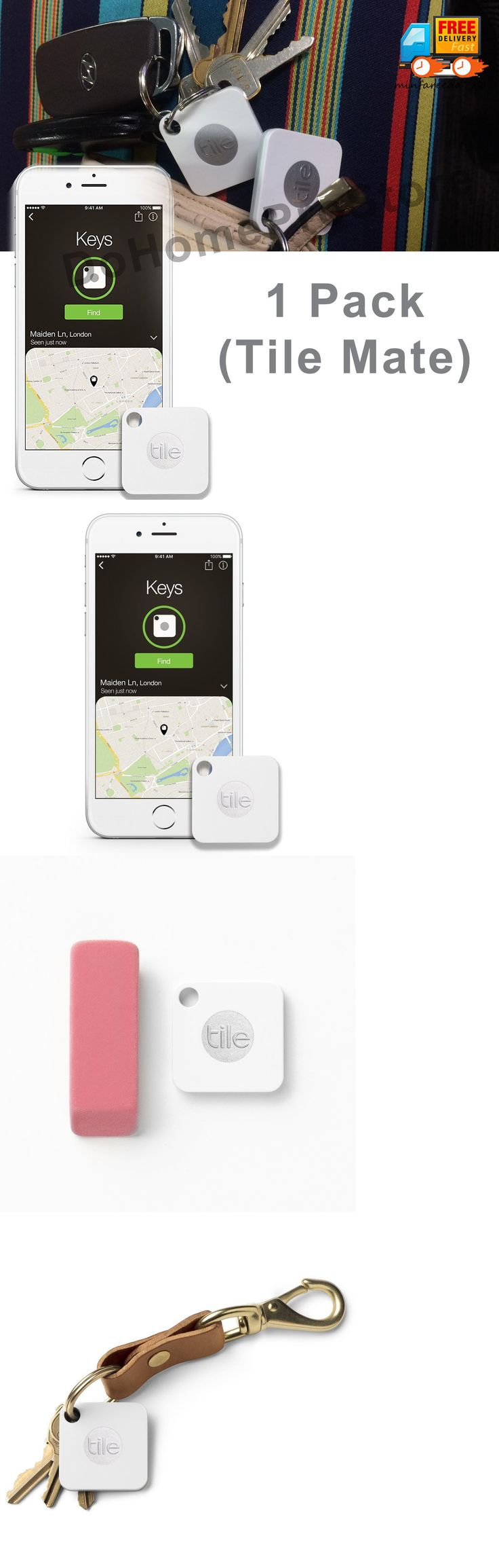 Tracking Devices: Tile Mate Key Finder Bluetooth Phone Tracker Find Anything Ring Locator, 1 Pack -> BUY IT NOW ONLY: $35.95 on eBay!