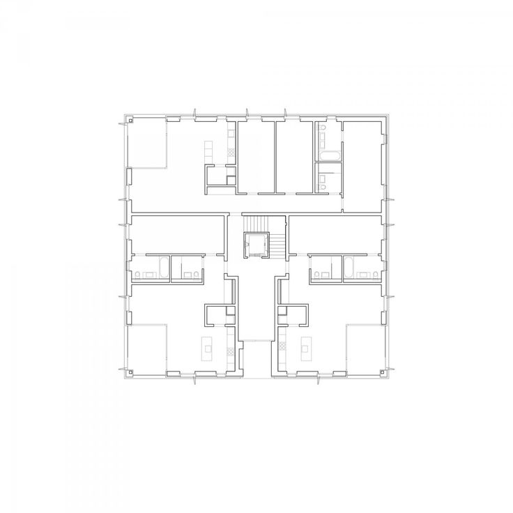 Escherpark Apartments Zürich E2A | Architecture | Collective housing | Floor plan
