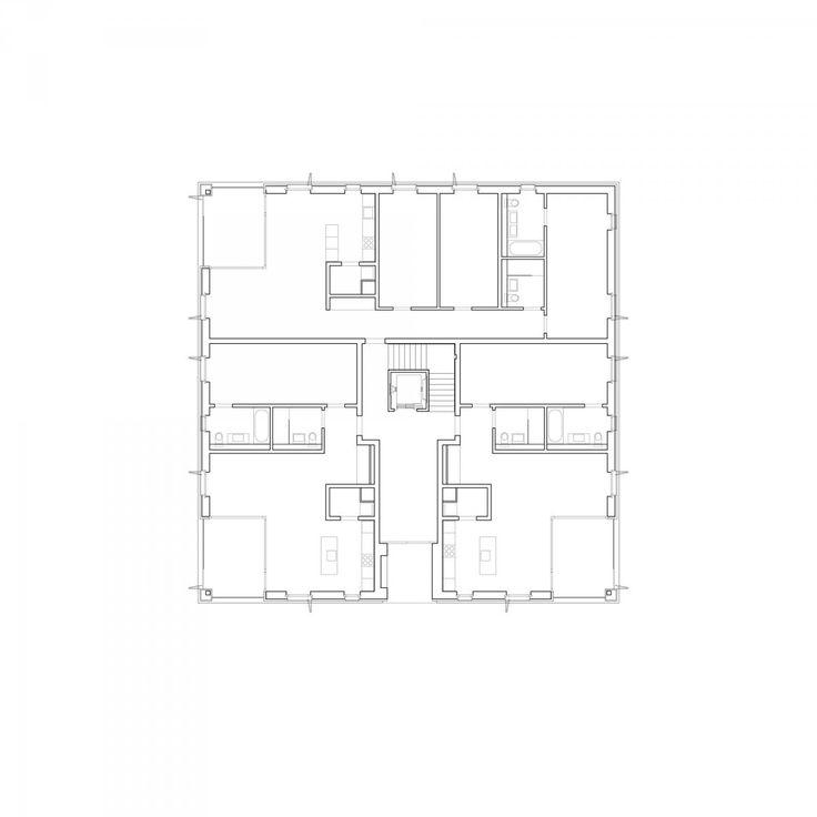 Escherpark Apartments Zürich E2A | Architecture | Collective housing | Floor plan