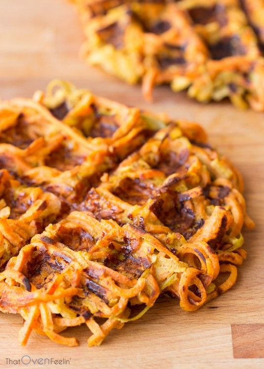 Cinnamon Apple Sweet Potato Waffles