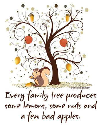 Bad Family Quotes And Sayings | Every family tree produces some lemons, some nuts and a few bad apples ...