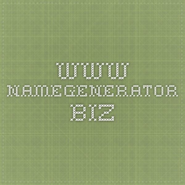 This is a very useful website. [www.namegenerator.biz/last-name-generator.php]
