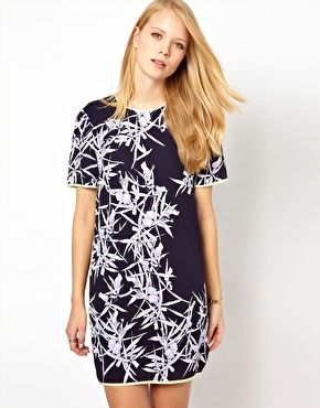 Whistles Orchid Print Shift Dress