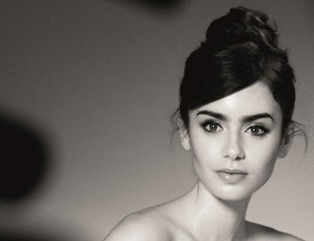 Lily Collins photo by Barwered van der Plas for Lancome 2013
