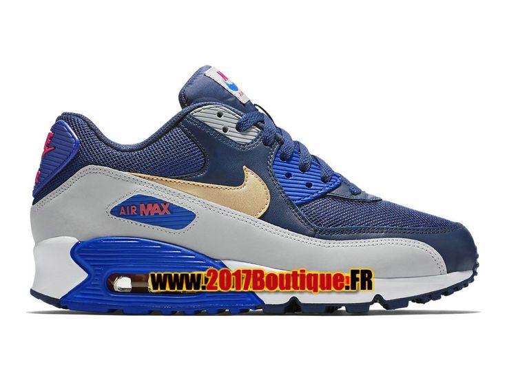 Nike Air Max 90 Essential PS Chaussure Nike Basketball Pas Cher Pour Enfant Bleu/Gris 537384-409E