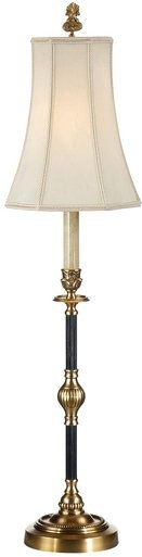 Floor Lamp WILDWOOD LAMPS 1-Light Beige Shade Silk New Line Switch Mediu WL-1301