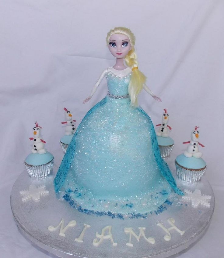 Princess Doll Cake Images : Disney s Princess Elsa Doll Cake picks Pinterest ...
