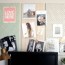 How To Make A Stylish Pin Board Display Pictures Cards Quotes And