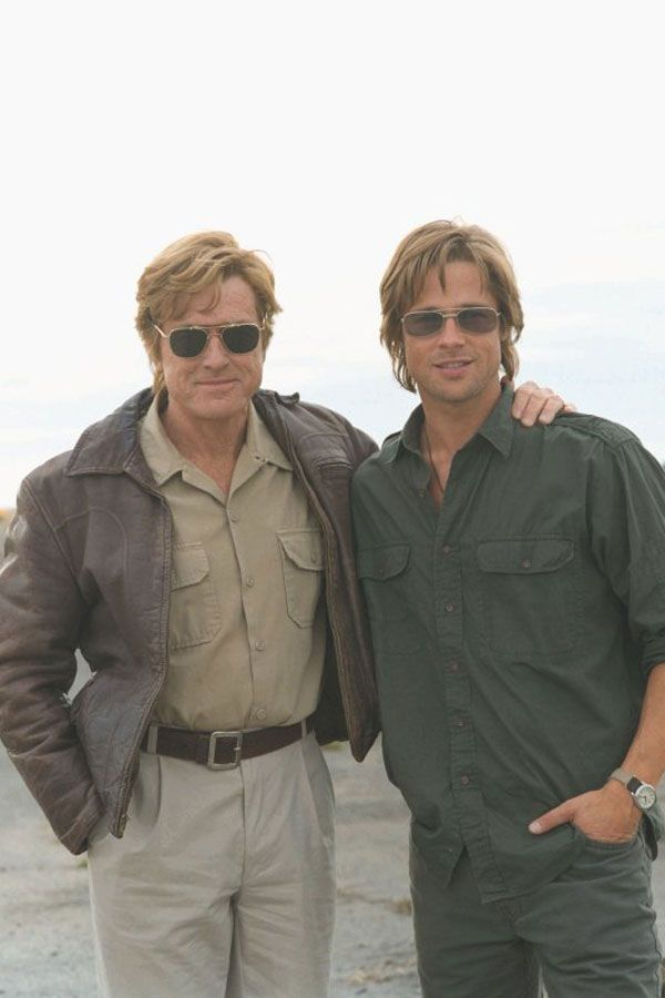 Now Pitts definitely came out of the Robert Redford Mold (Robert Redford and Brad Pitt)