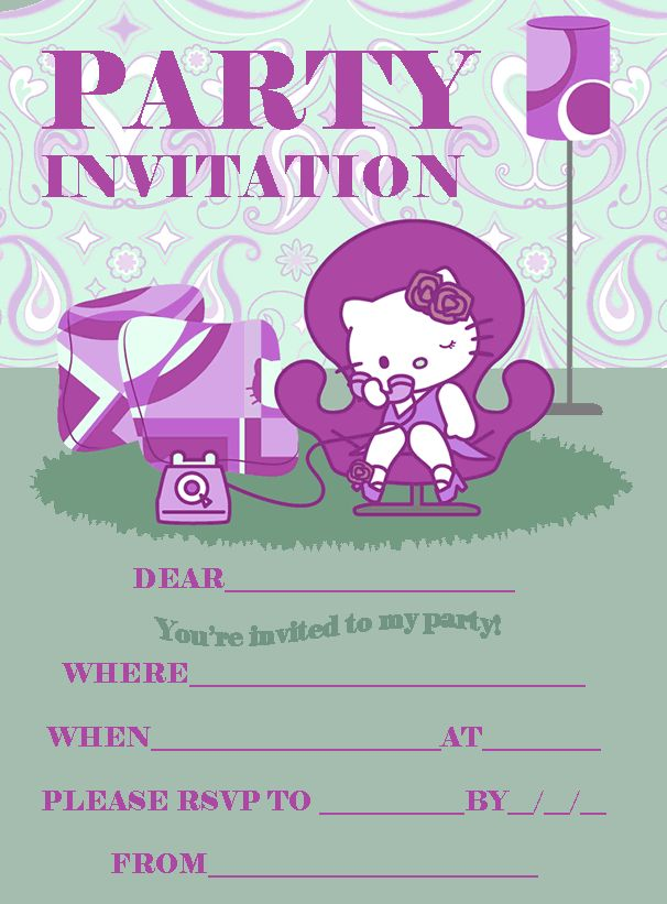 hello kitty party invitations printable free Intoanysearchco