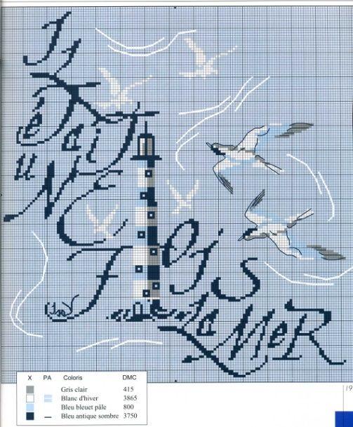 324 best images about grilles points de croix sur la mer on pinterest stitching boats and - Grille point de croix mer ...