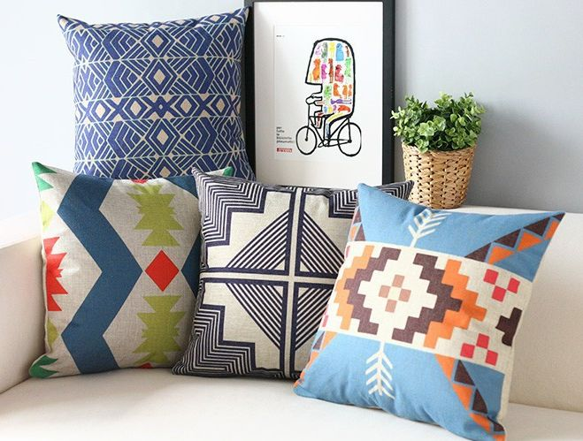 set of 4 nordic indie pillow covers tribal arrow southwest navajo geometric arrows aztec