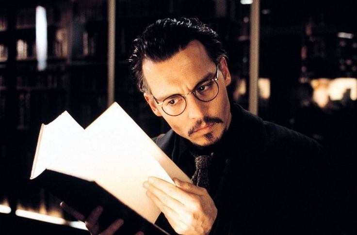 """Johnny Depp in """"The Ninth Gate."""" Directed by Roman Polanski"""