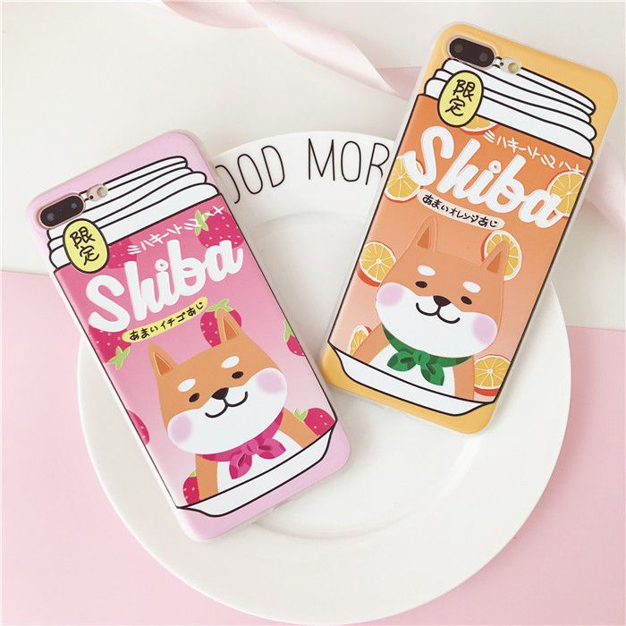 Details about Cute Shiba Couple Soft Phone Case Skin For iPhone X 7 8 Plus & iPhone 6 6S Plus