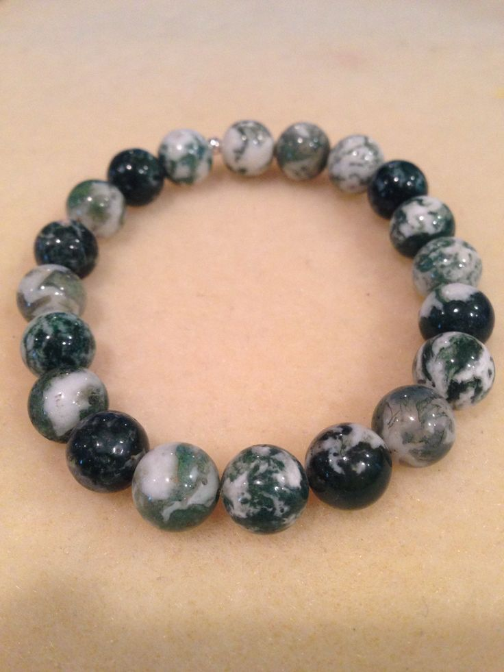 New in our shop! Tree Agate 10mm Round Bead Bracelet with Sterling Silver Accent https://www.etsy.com/listing/232963170/tree-agate-10mm-round-bead-bracelet-with?utm_campaign=crowdfire&utm_content=crowdfire&utm_medium=social&utm_source=pinterest
