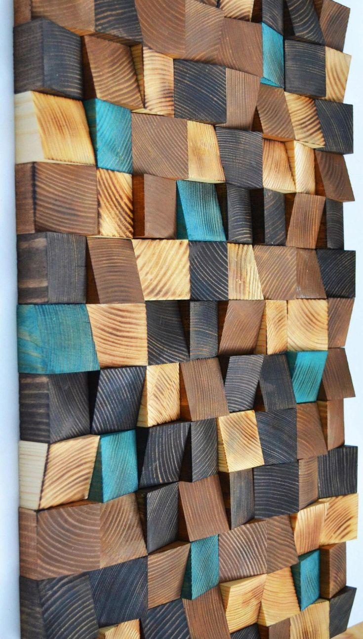 Wood wall art, Reclaimed Wood Art, Mosaic wood art…