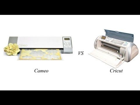 Provo Craft Cricut vs Silhouette Cameo Review in video and see full post here: http://ucutathome.com/blog/2012/03/16/provo-craft-cricut-silhouette-cameo/