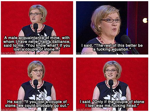 When she came out with this perfect response to an idiotic chat-up line. | 21 Times Sarah Millican Spoke For Women Everywhere