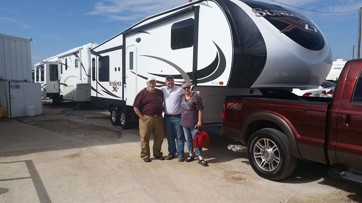 Congratulations to the Nichols family on their new #Sundance XLT 285TS from @Patterson_RV!  Happy camping! #MyHeartland