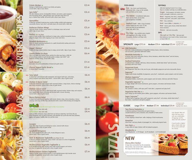 27 best menu samples - pan images on Pinterest Food menu - sample pizza menu template