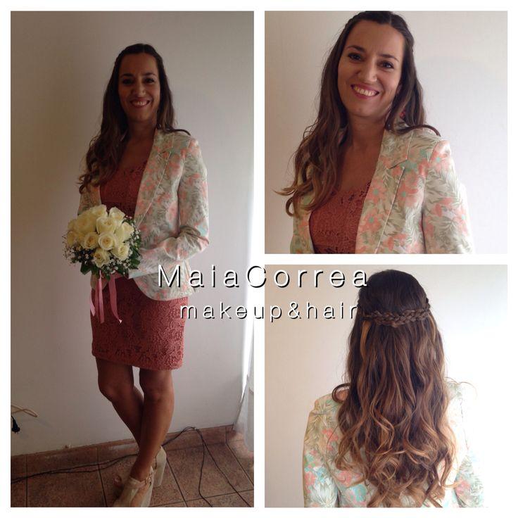Valentina civil, #maquillaje #peinado #novia  #bride #makeup #hair