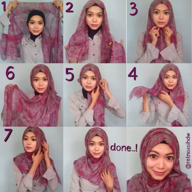 Easy Everyday Wrap Hijab Tutorial