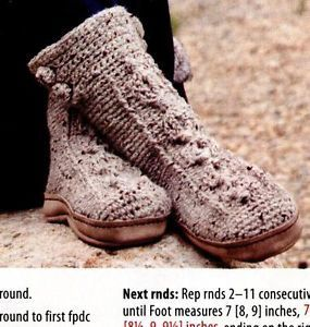 Patterns+to+Make+Boot+Slippers | ... Pattern Instruction to Make Crochet Tundra Boots Slippers Warm Gift