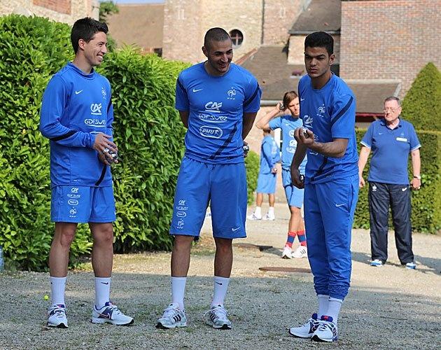 Samir Nasri, Karim Benzema and Hatem Ben Arfa France