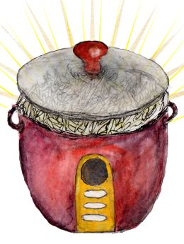 Table Matters - Rice Cooker Recipes: basic guidelines for making polenta, oatmeal, frittata, quinoa, mac & cheese, poached fruit, and coconut rice in a basic rice cooker.