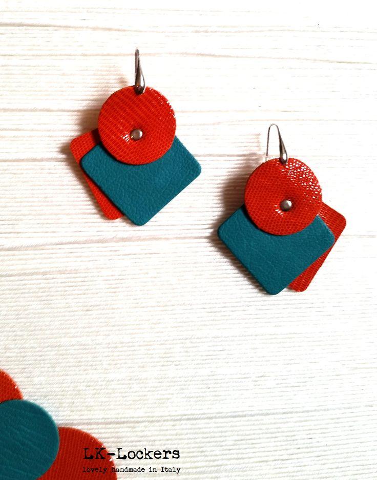 leather earrings  orecchini in pelle www.lk-lockers.com