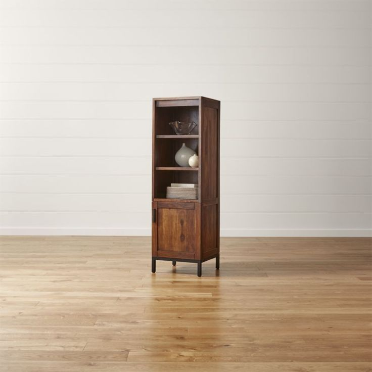 Wyatt Solid Wood Media Tower | Crate and Barrel