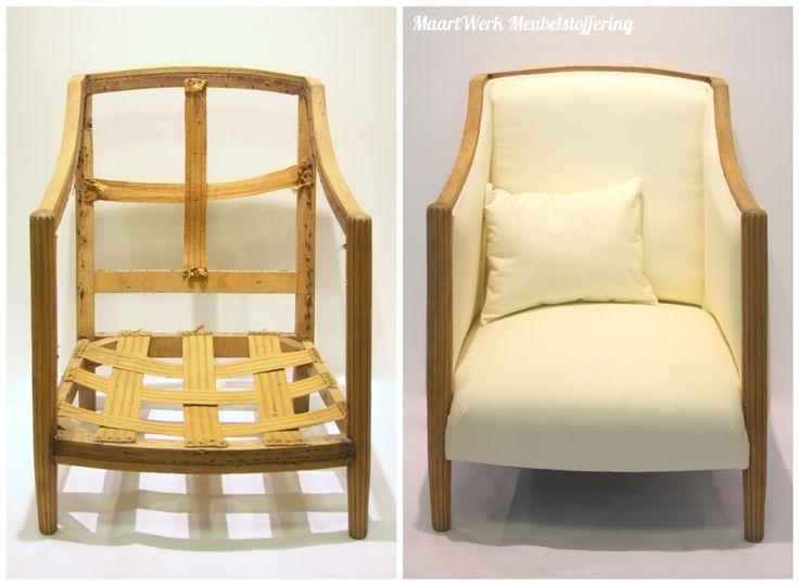 Eindresultaat Art Deco fauteuil.