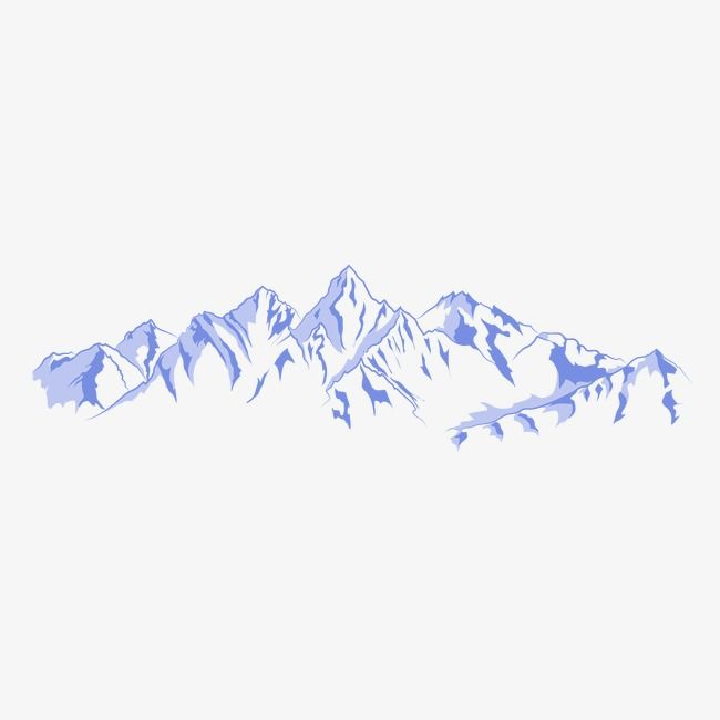Mountain Mountains Vector Blue Png And Vector Mountain Illustration Mountain Drawing Art