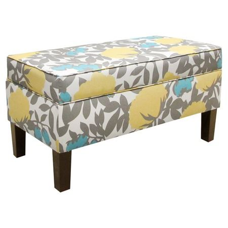 I pinned this Upholstered Storage Bench in Peony Aegean from the Thomas Paul event at Joss & Main!
