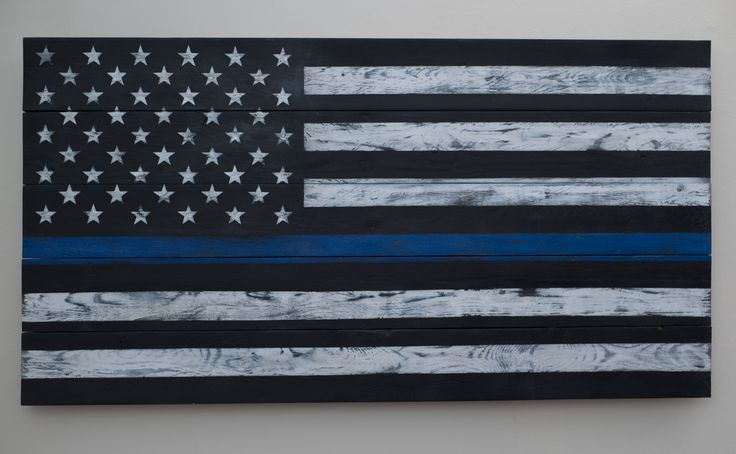 Law Enforcement Flag Wood Art: A client of mine requested this piece as an anniversary surprise gift to her husband, a police officer. The top black stripe represents the general public and the bottom line represents criminals. The blue stripe represents represents law enforcers who stand in between. #bluelives For personalized orders, please go to my Etsy page. https://www.etsy.com/shop/TrinityWorkStudio