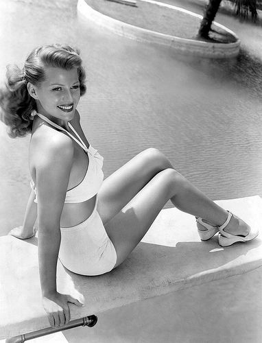 Rita Hayworth #pool #vintage #swim
