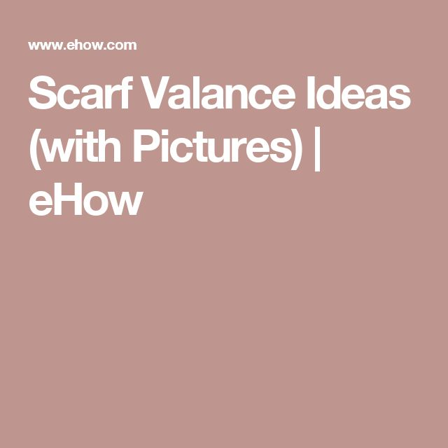 Scarf Valance Ideas (with Pictures)   eHow