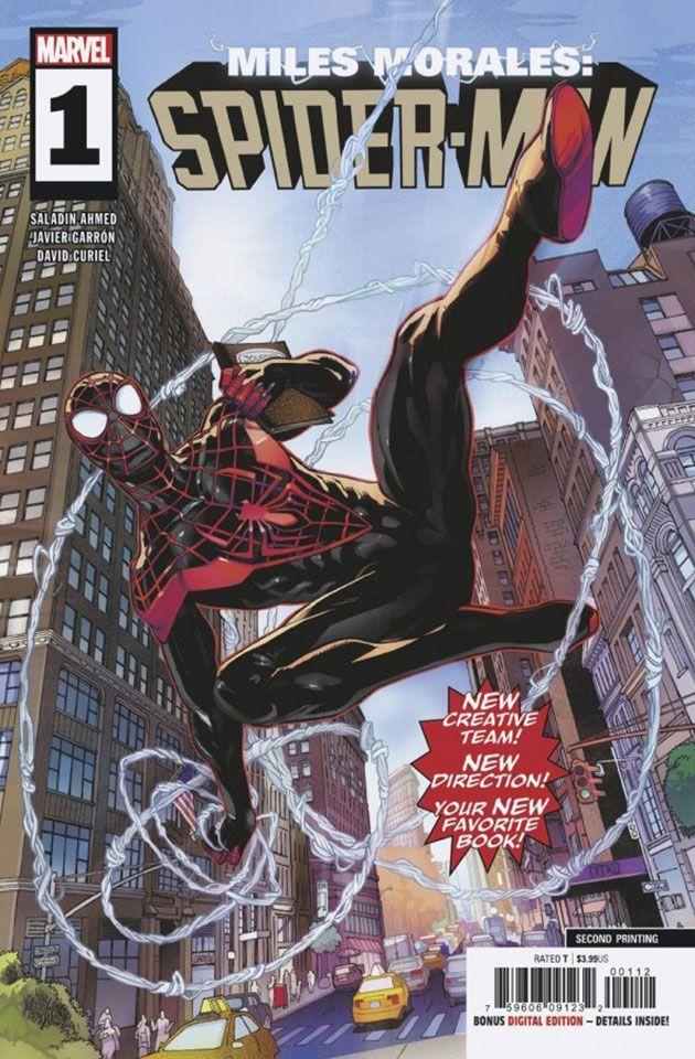 ac38ed02af2dc2 Miles Morales  Spider-man  1 (2018) - Javi Garron 2nd Printing Variant  Cover