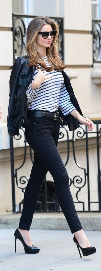 #street #fashion Miranda Kerr casual @wachabuy