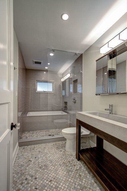 Elegant 19 Narrow Bathroom Designs That Everyone Need To See